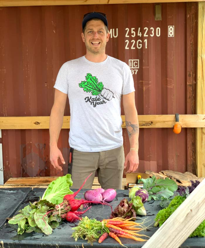 Chris Miller, owner of Horseshoe Farm in Travelers Rest, SC. Chris has over a decade of experience working on or operating small farms around the US.