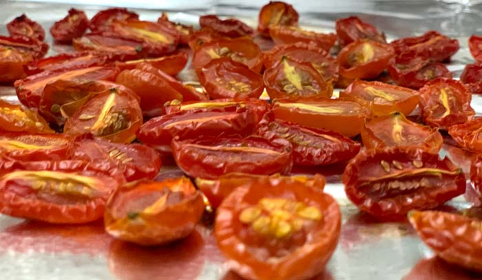 Oven or fire-roast your tomatoes to give your tomato sauce a more nuanced flavor. Side note: if you have a bunch of roasted tomatoes on the ready in your fridge, they make a perfect addition to omelettes, frittatas, pizzas, and other dishes.